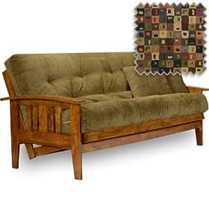 futon set full size frame premium 8 mattress prism cover futon