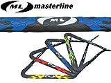 """【ウェイクボード用ハンドル】masterline(マスターライン)ニューファイヤーカーボンハンドル15.5"""" STD (ブルー)"""