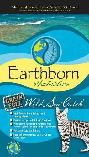 Earthborn Holistic Wild Sea Catch Grain-Free Dry Cat Food, 6-Pound