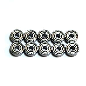 1030ZZ Lager 10mm ~ 3mm ~ 4mm 10 St?ck doppelseitigen Metallabschirmung Angeln Angelrollen Tuning 1030ZZ-10P