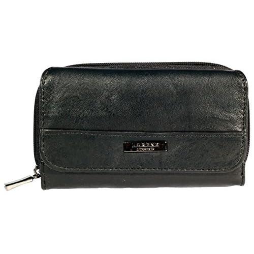 Brand New Quality Womens Soft Sheep Nappa Leather Purse (Black)