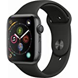 Apple Watch Series 4 (GPS only) Aluminum Case Compatible with iPhone 5s and Above (Space Gray Aluminum case with Black Sport Band, 44mm) (Color: Space Gray Aluminum case with Black Sport band, Tamaño: 44mm)