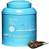 Palais des Thés Premium Green Tea Loose Leafs, Benefits Diet And Weight Loss, Pure Set Gift With Fruit Mix Blossom Flavors Berries, Orange & Date Decorative Container Tin Holiday Box , Assortment