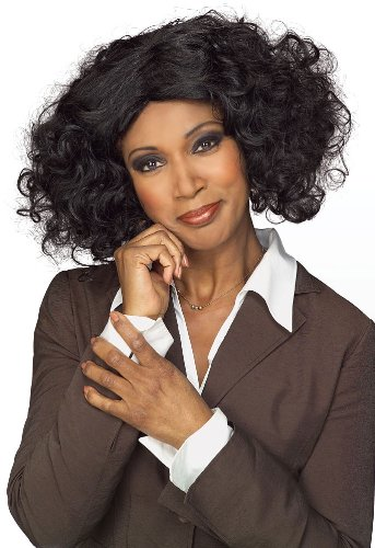 Rubie's Costume Female Talk Show Host Short Wig, Black, One Size - 1