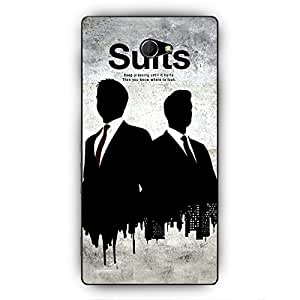 EYP SUITS Harvey Spector Back Cover Case for Sony Xperia M2 Dual