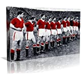 Busby Babes Manchester Utd. Framed Canvas Art Print - Contemporary Art - Football Art - Framed Ready to Hang - Buy two or more get Free UK Delivery - Oneblankwall , 20 inch x 30 inch