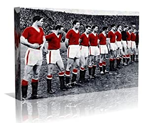 Busby Babes Manchester Utd. Framed Canvas Art Print - Contemporary Art - Football Art - Framed Ready to Hang - Buy two or more get Free UK Delivery - Oneblankwall , 24 inch x 40 inch