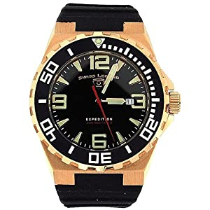 Swiss Legend Gents Expedition Date Black Rubber Strap Watch SL-10008-01-BB