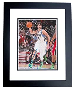 Ricky Rubio Autographed Hand Signed Minnesota Timberwolves 8x10 Photo - BLACK CUSTOM... by Real Deal Memorabilia