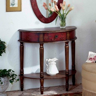 Cheap Artist's Originals Demilune Console Table in Red (B0042ZAS1U)