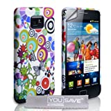 Samsung Galaxy S2 Multicoloured Circles & Butterflies Silicone Caseby Yousave Accessories