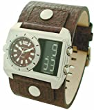Kahuna Analogue-Digital Brown Leather Strap Watch KTY-0003G