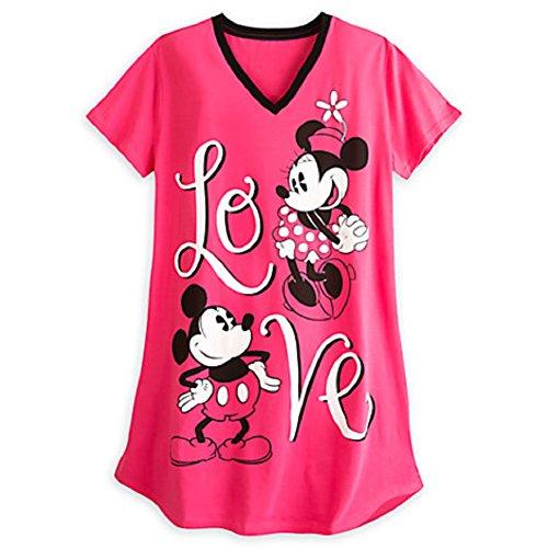 Disney Store Minnie Mickey Ladies Nightshirt Nightgown Love Red XS S M L XL XXL (XL/XXL) (Extra Long Nightshirts compare prices)