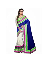 Bollywood Designer Blue 60 Gram Saree - B00UN17RCK