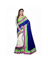 Bollywood Designer Blue 60 Gram Saree - B00UN17RCK