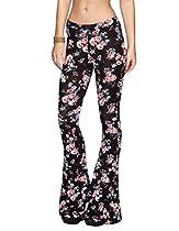 FULL TILT Floral Print Womens Flare Leggings