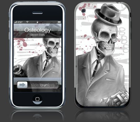 Apple iPhone Premium Vinyl Skin - Osteology (GelaSkins Brand) Made in Canada