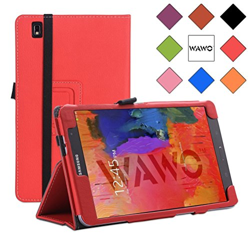 Wawo Creative Smart Cover Folio Case For Samsung Galaxy Tab Pro 8.4 Inch Tablet-Red front-989472