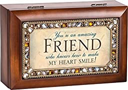 You\'re an Amazing Friend Jeweled Jewelry Music Musical Box Plays Tune Thats What Friends Are For by Cottage Garden