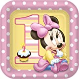 Minnie's 1st Birthday Dinner Plates (8 count)