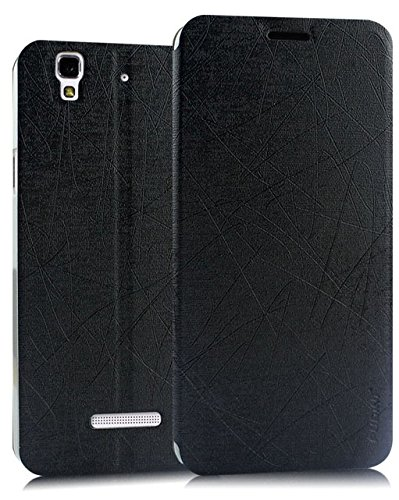 Rain Flip Cover Case For Micromax Yu Yureka - Black