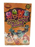 Disney Decorated Lollipops Rings Fruit Flavored 20 Rings NET WT 8.46 OZ