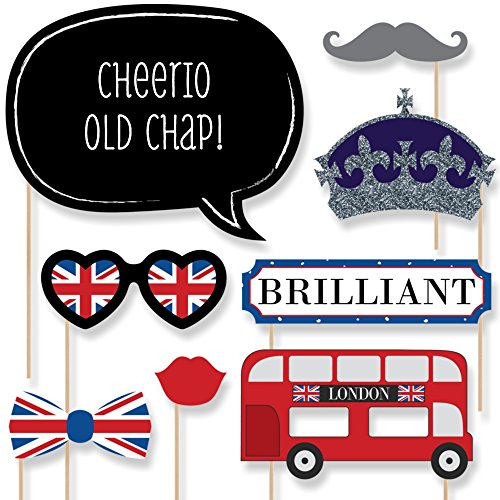 London - British Photo Booth Props Kit - 20 Count (British London Decorations compare prices)