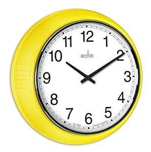acctim 27371 lorene wall clock yellow kitchen home