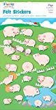 Fiesta Crafts Pigs Felt Stickers Pack of 6