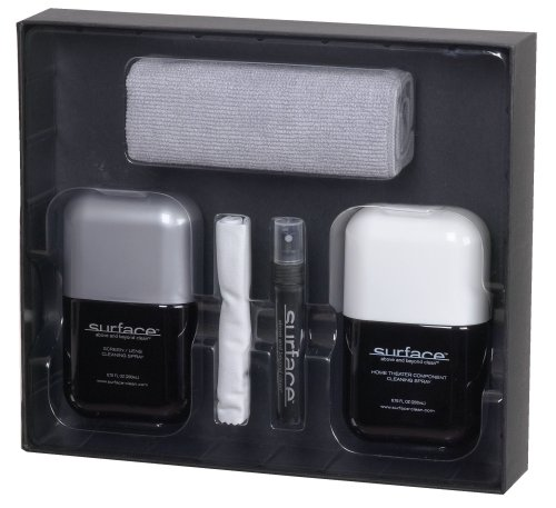 Audiovox Surface SURF200KIT Screen and Lens Cleaning Kit for Home Theater and AV Components
