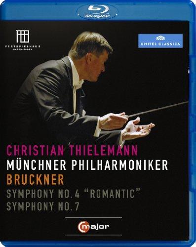 ブルックナー : 交響曲 第4番 「ロマンティック」 | 交響曲 第7番 (Bruckner : Symphony No.4 ''Romantic'' | Symphony No.7 / Christian Thielemann | Munchner Philharmoniker) [Blu-ray] [輸入盤・日本語解説書付]