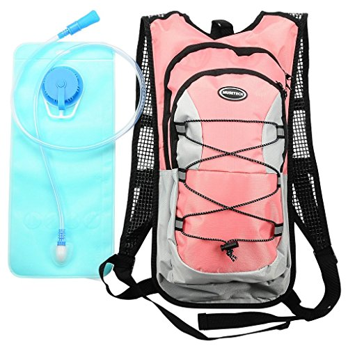 Hydration Pack with 2L Backpack Water Bladder for Hiking Running Biking Color Pink (Water Pack compare prices)
