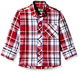 Palm Tree Baby Boys' Shirt (131012289078 1321_Red_6-12 Months)