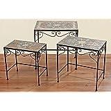 beistelltisch tisch malta eckig l 50 cm mosaiktisch eisentisch gartentisch. Black Bedroom Furniture Sets. Home Design Ideas