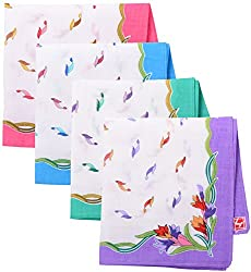 Generic Women's Handkerchief, Set of 12 ( Multi-Coloured )
