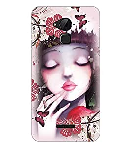 PrintDhaba Cute Girl D-4043 Back Case Cover for COOLPAD NOTE 3 LITE (Multi-Coloured)