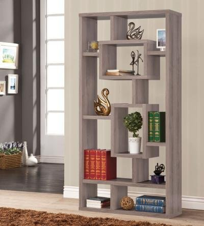 Bookshelf Distressed Grey front-902223