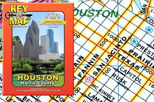 Key Map Houston Harris County Atlas