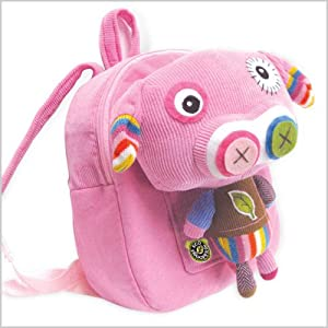 Eco Snoopers / Backpack with Removable Plush, Bling-Bling Piggy