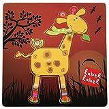 Vital Innovations LL de fr1284-Label ranuras Puzzle jirafa, amarillo