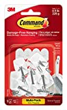 command wire hooks value pack small white 9 hooks 17067 9es
