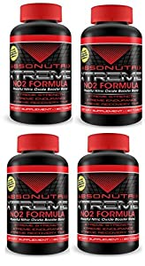 4 Bottles - Absonutrix Extreme No2 - 3000mg of No2 Power - 480 Tablets! Xtreme Strength -Xtreme Endurance - Xtreme Recovery Time