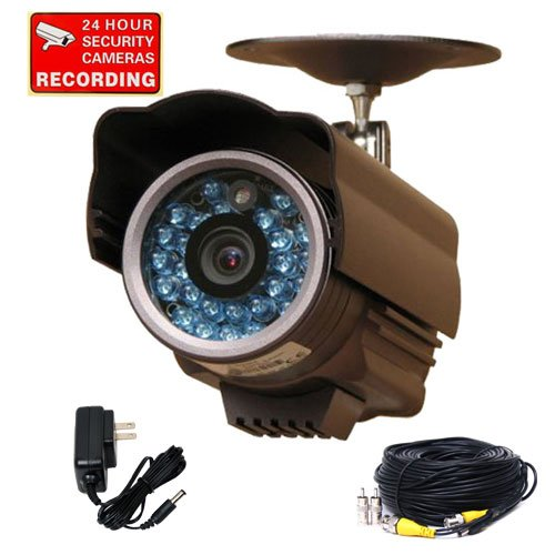 VideoSecu Day Night Infrared Outdoor CCTV Home Security Camera 1/3
