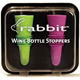 Metrokane 6119 Rabbit Wine Bottle Stoppers 2-Pack in Multi-Color (Colors Selected Randomly)