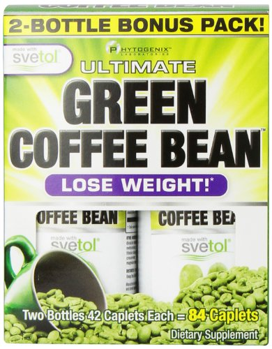 Phytogenix Weight Loss Product, Green Coffee Bean, 84 Count