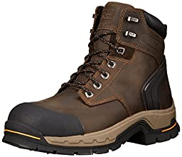 Timberland PRO Men\'s 6 Inch Stockdale Grip Max Alloy Leather Work and Hunt Boot, Dark Brown Full Grain Leather, 10 M US