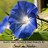"1,000 Seeds, Morning Glory ""Heavenly Blue"" (Ipomoea tricolor) Fresh & Untreated Seeds by Seed Needs"