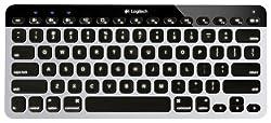 Logitech Bluetooth Easy-Switch K811 Keyboard for Mac iPad iPhone - Silver/Black (920-004161)