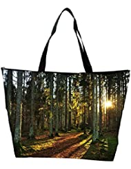 Snoogg Abstract Sunlight In Forest Designer Waterproof Bag Made Of High Strength Nylon - B01I1KL6L2