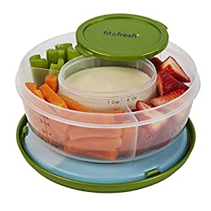 Fit & Fresh Fit & Fresh Fruit and Veggie Bowl with Removable Ice Pack